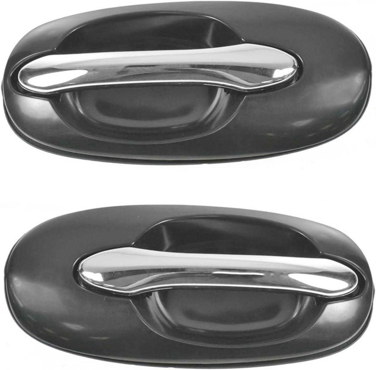 Rear Exterior Outside Sliding Door Handle Chrome//Black Right RH for 02-05 Sedona