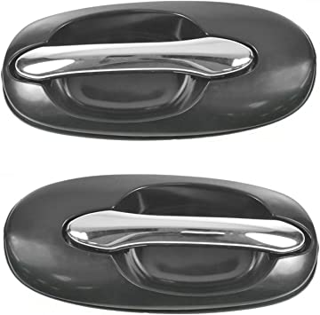 fits Kia Outside Outer Exterior Door Handle Left Rear Driver Black Primed