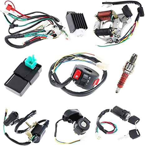 complete electrics stator coil cdi wiring harness for 4 stroke atv klx 50cc 70cc 110cc 125cc atv wiring harness chinese 250cc atv wiring diagram wire wiring harness cdi coil assembly