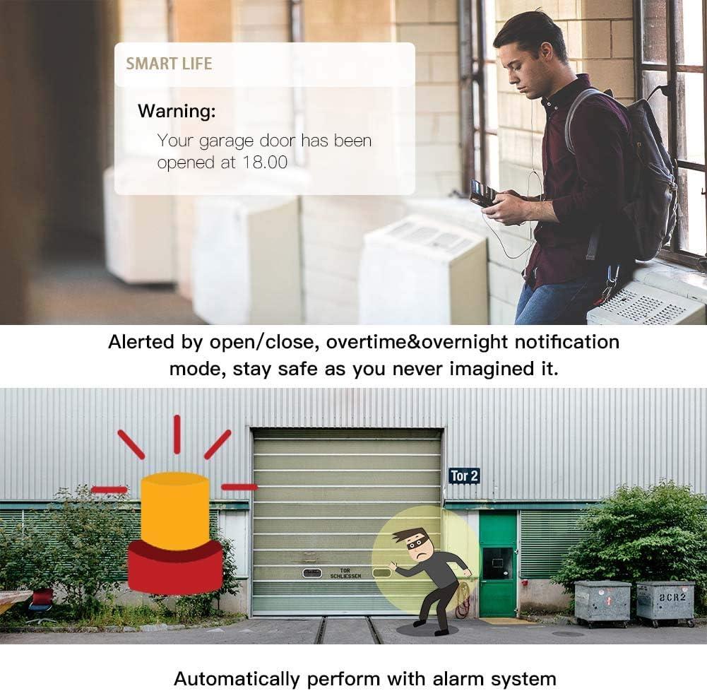 Garage Door Opener Remote Control WiFi Switch Google Home Alexa Echo Tuya App