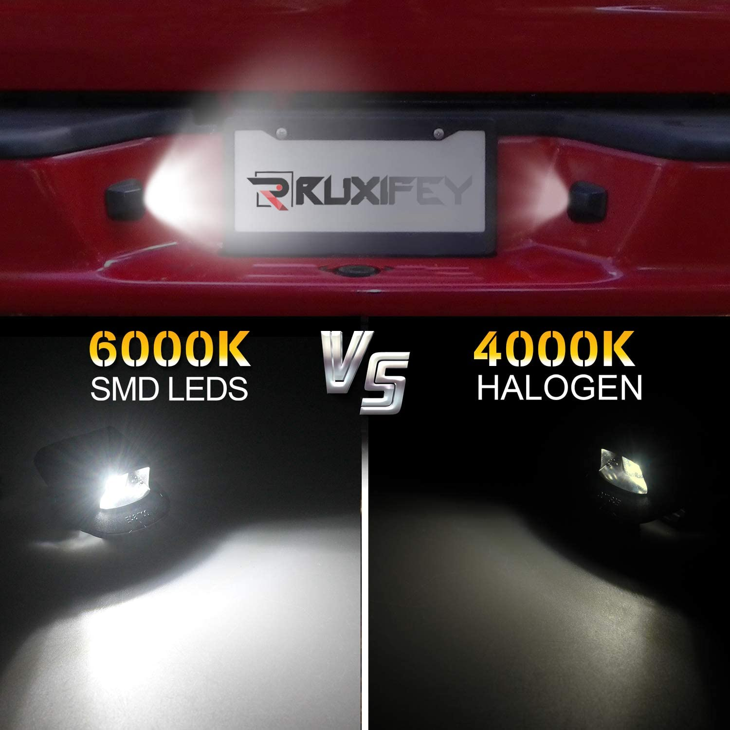 RUXIFEY LED License Plate Light Replacement Compatible with Dodge Dakota 1997-2011 Pickup Truck Pack of 2 6000K White