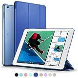 新型 iPad 9.7 2017 ケース ESR 超軽量 極薄 半透明 レザー 三つ折スタンド オートスリープ機能 スマートカバー 新しいApple iPad 9.7インチ 2017最新版専用 全10色(ネイビーブルー)