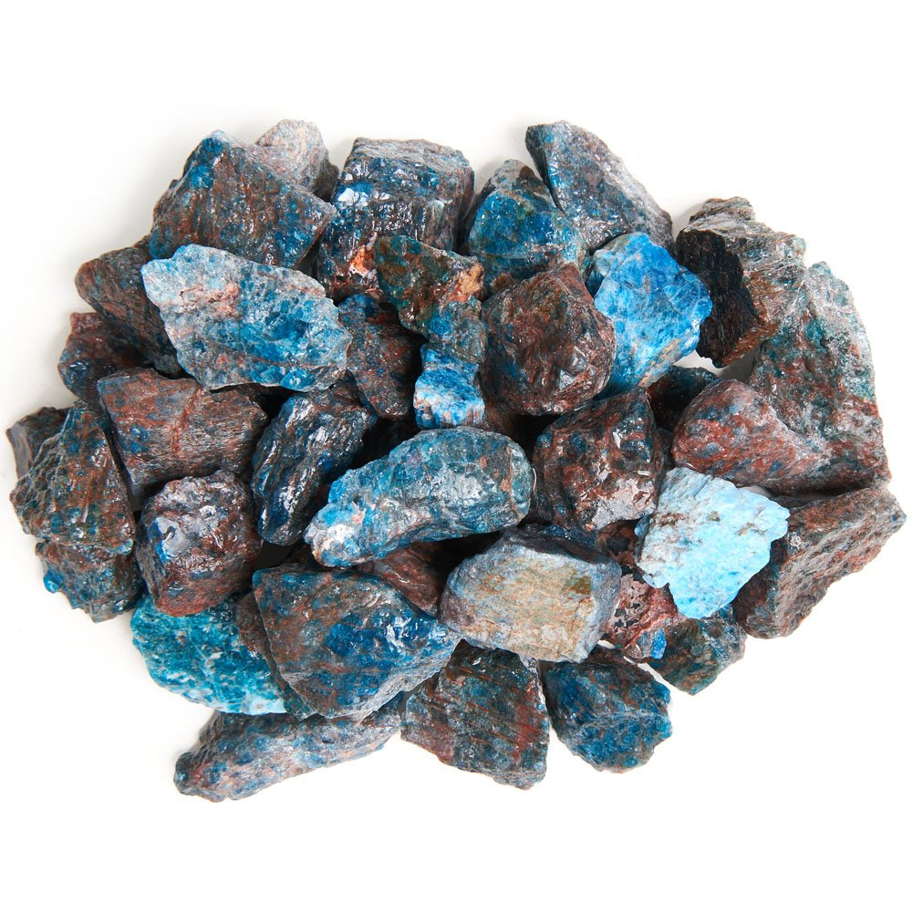 Digging Dolls: 1 lb Apatite Rough Rocks from Madagascar - Large 1'+ Raw Natural Stones for Arts, Crafts, Tumbling, Cabbing, Polishing, Wire Wrapping, Wicca and Reiki Crystal Healing