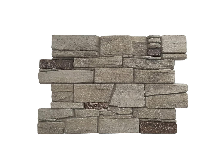 Revestimiento mural en piedra óptica para cocina - terraza - dormitorio - salón | Paneles para paredes mediterráneas de espuma dura | 60cm x 40cm ...