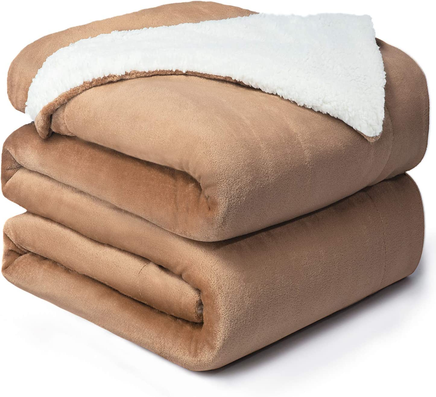 Bedsure Sherpa Fleece Blanket Queen Size Taupe Plush Blanket Fuzzy Soft Blanket Microfiber