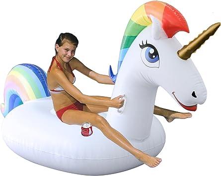 AOKUN Unicornio Hinchable colchonetas Piscina Inflable Flotador Unicornio Piscina para Hinchables Juguete para Fiesta de Piscina: Amazon.es: Juguetes y juegos