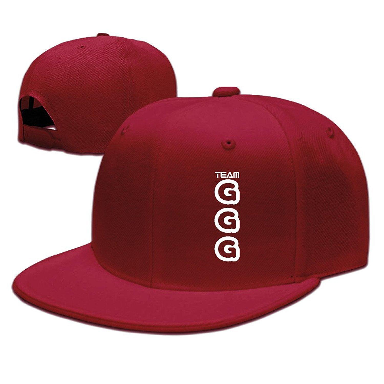 Amazon.com  ZZYY Fashion Unisex Baseball Cap Gennady Golovkin GGG Logo  Adjustable Plain Hat Sports Red (6197563432929)  Books ee7356838cd