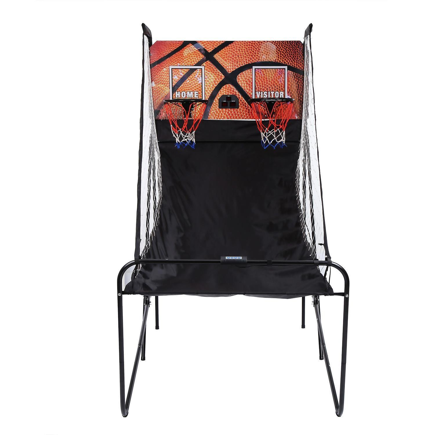 Basketball Arcade Game,Pagacat Electronic Folding 2-Player Arcade Basketball Machine for Outdoor Indoor[US Stock]