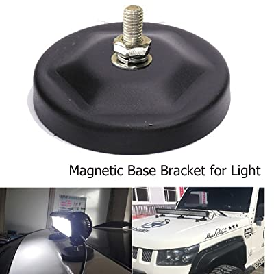 lightronic 1pc Magnetic Base Mounting Brackets for All Off-Road Vehicles or Trucks Boat LED Working Light LED Light Bar Magnet Stainless Steel: Automotive