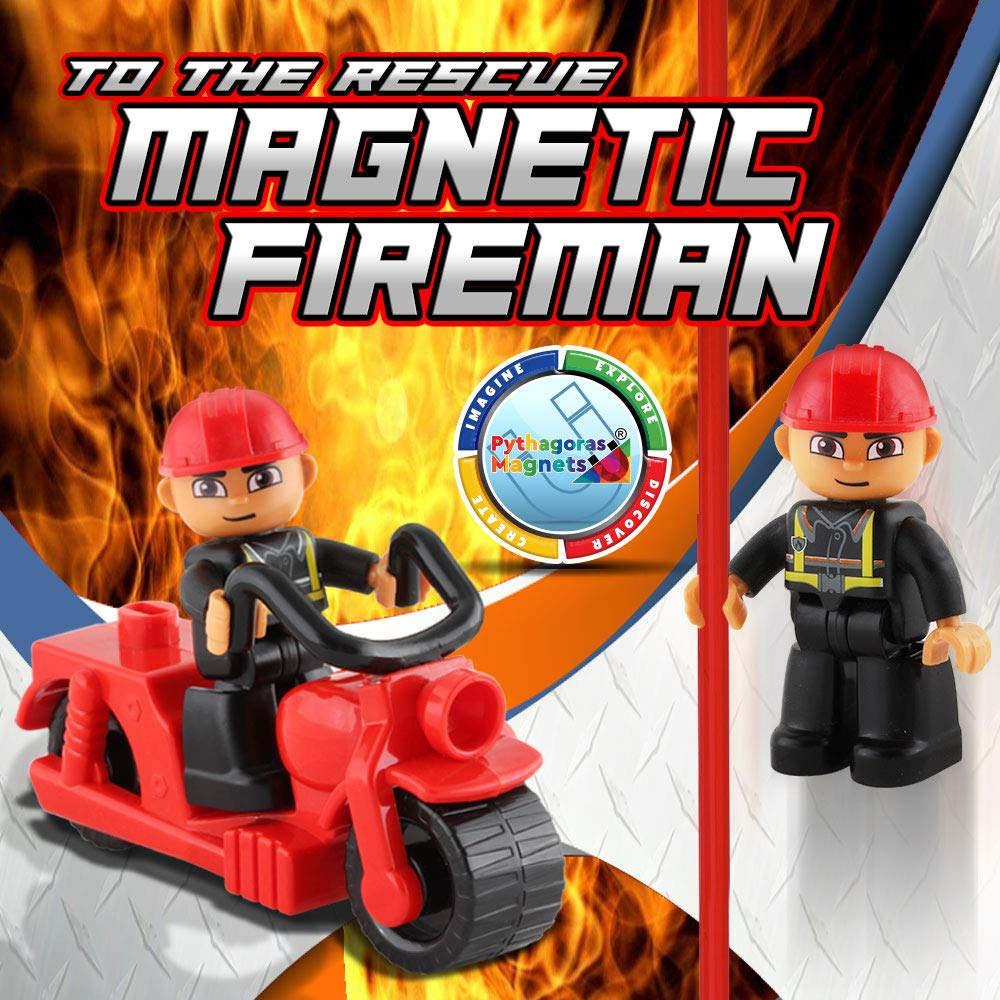 Pythagoras Magnets Entire Collection Includes 3 Magnetic Figure Sets, Car, Helicopter, Motorbike, Plane Sets. Let Your Kids Imaginations Have No Limits by Pythagoras Magnets (Image #8)