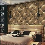 HaokHome 3231 レトロヴィンテージゴールド革の質感の壁紙 3Dファッション屋内 ベッドルーム装飾 53cm×10m(並行輸入品)