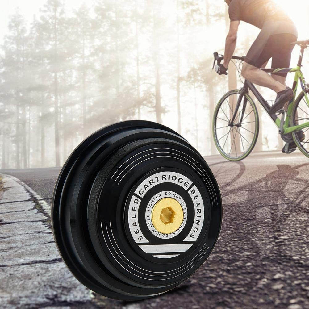 Bicycle Headset Tube Fork Headset with Dust Cap Design to Prevent the Bearing from Over-abrasion and Make it Rotate Freely