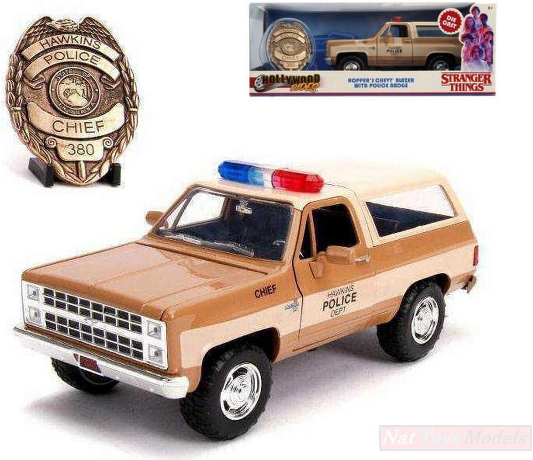 NEW Jada Toys JADA31111 HOPPERS Chevy Blazer with Police Badge Stranger Things 1:24: Amazon.es: Juguetes y juegos