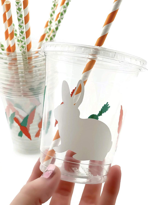 Bunny Rabbit Cups - 12 Set Garden Spring Baby Shower Birthday Party Supplies