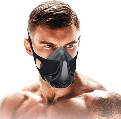 FDBRO Sports Training Mask High Altitude Simulation Workout Elevation Athletic Air Resistance Exercise Cardio Running Gym Strength-Training