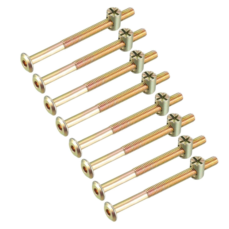 con Tuercas ranuradas LAQI Juego de Tornillos hexagonales para Muebles M6x70mm,4 Sets Color Bronce
