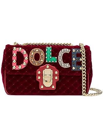 85c3674bcb57 Dolce E Gabbana Women s Bb6343am27980304 Red Velvet Shoulder Bag