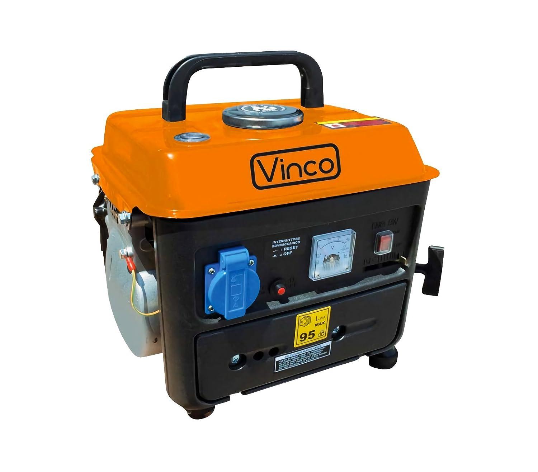 60104 Generatore di corrente portatile VINCO 0.8 KW 2 tempi monofase 2.8 HP. MEDIA WAVE store ®