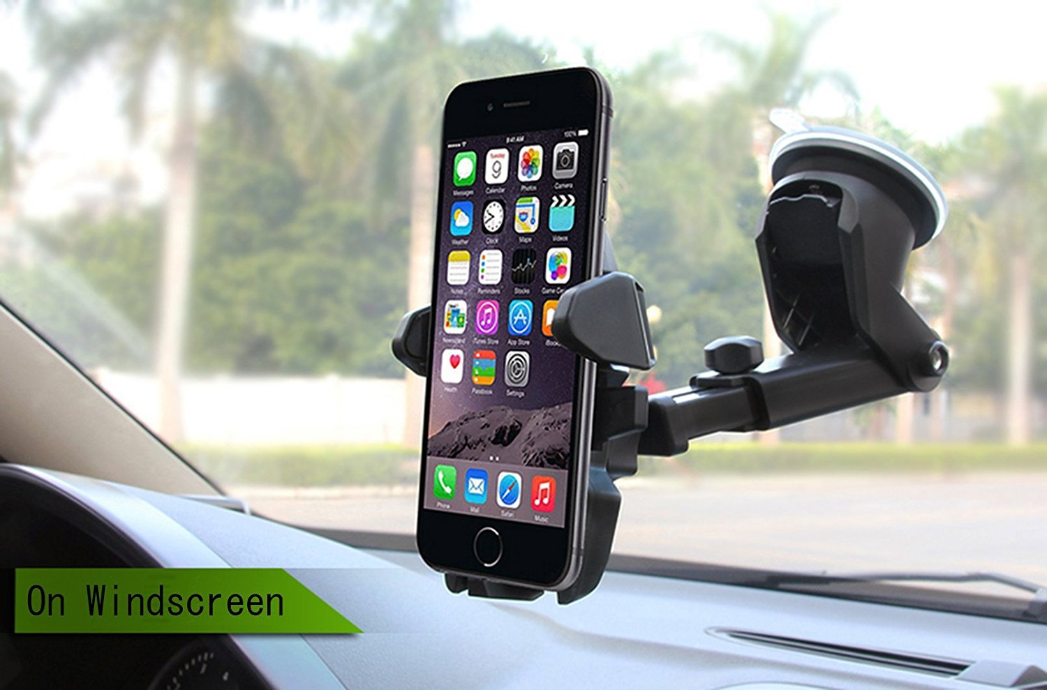 Universal Mobile Car Phone Holder 360 Degree Adjustable Window Windshield Dashboard Holder Stand For iPhone 7/8 Phone GPS Holders ZFITEI 743447073434