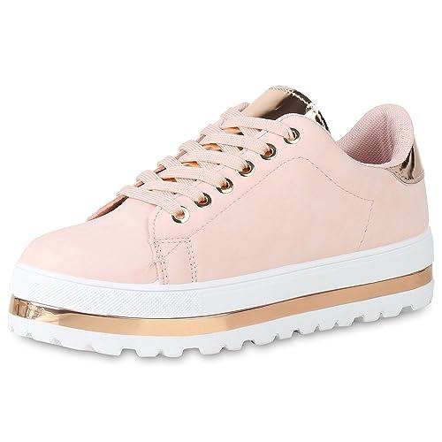 SCARPE VITA Damen Plateau Sneaker Lack Metallic