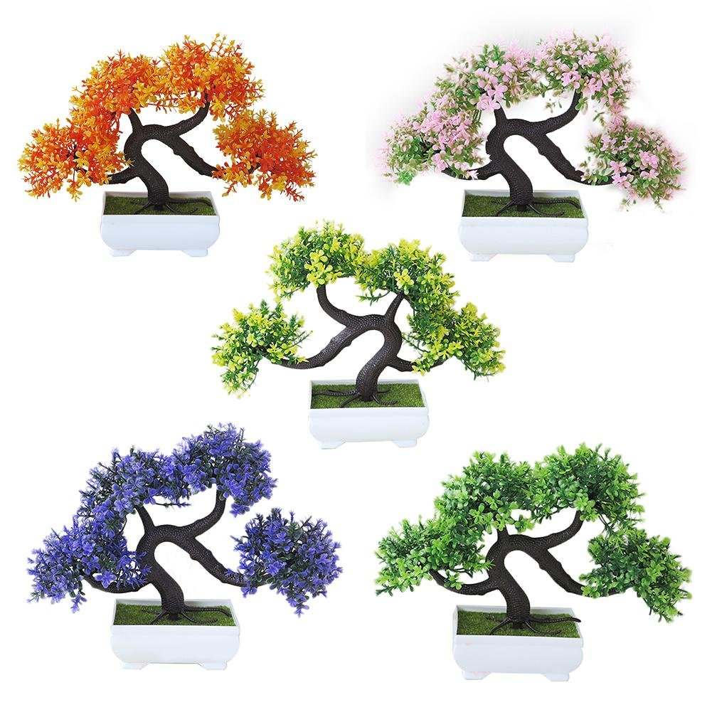 Plantas artificiales Bonsai Flor Artificial Flor Falsa Peque/ños Adornos Bonsai Hogar Sala de Estar Mesa Decoraci/ón de la Boda Decoraciones