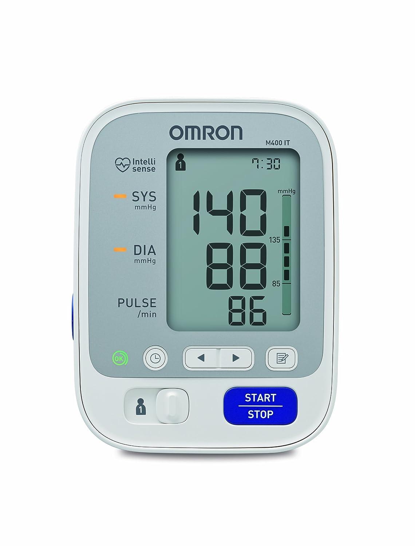 OMRON M400 IT - Tensiómetro eléctrico de brazo con USB, blanco [Importado de Alemania]: Amazon.es: Salud y cuidado personal