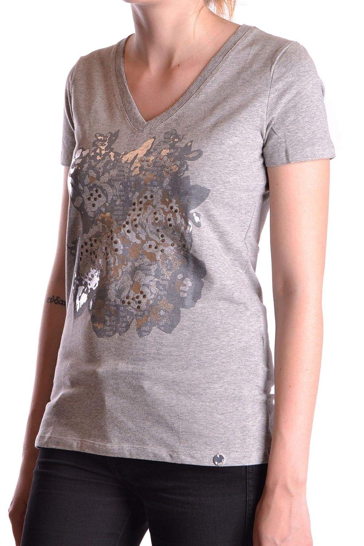 Liu Jo Womens MCBI18367 Grey Cotton T-Shirt