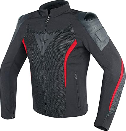Dainese Mig Leather-Textile Jacket (50) (BLACK/RED)