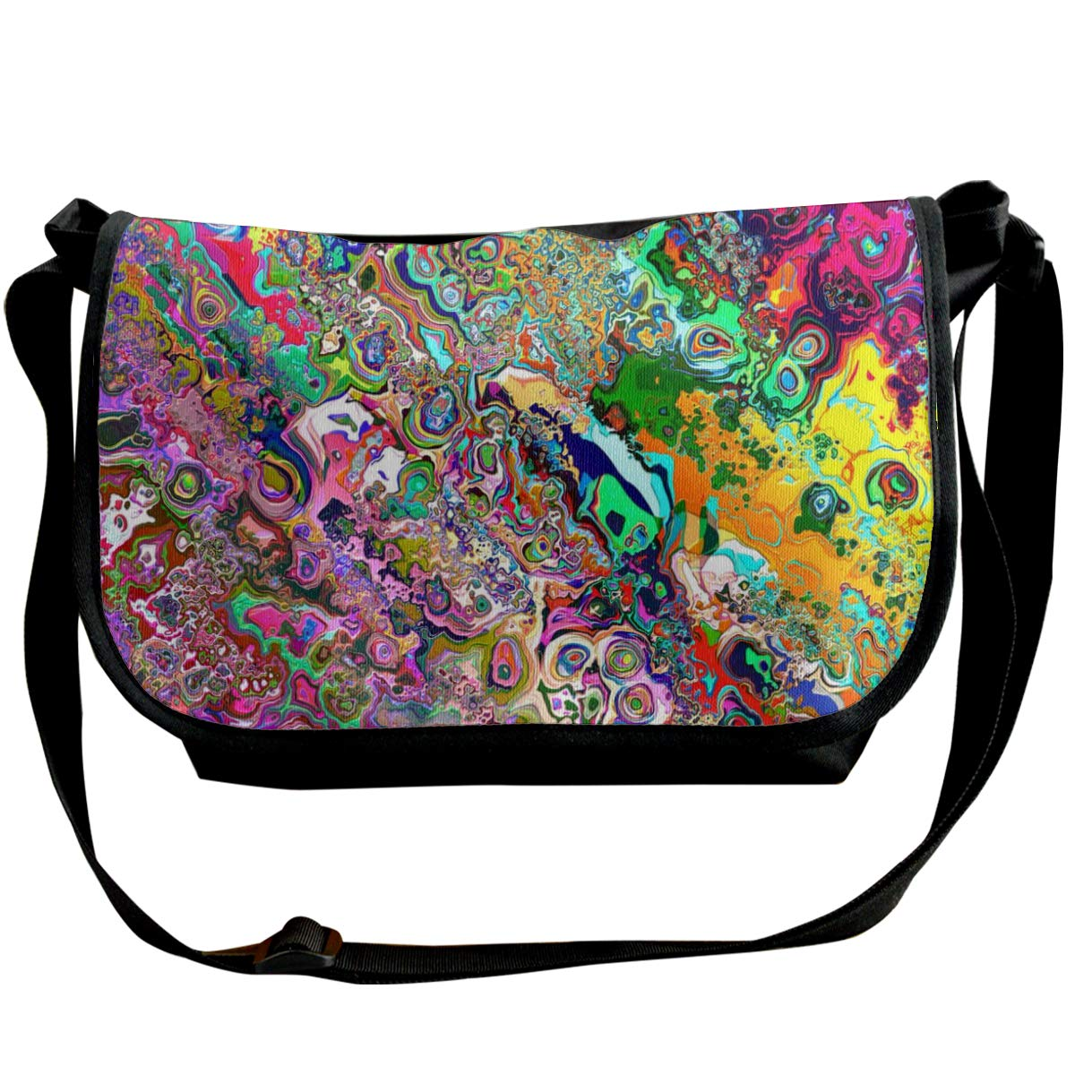 Psychedelic Background Unisex Crossbody Single Shoulder Bag With Shoulder Girdle Cellphone Pouch Purse Wallet