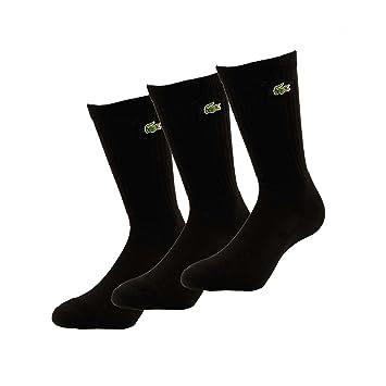 Lacoste Calcetines para hombre (3 unidades) negro negro Talla:41-46