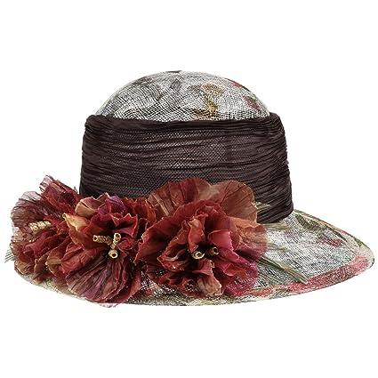 seleziona per originale aspetto elegante ben noto GREVI Cappello da Occasione Abacá Flower in Canapa Donna ...