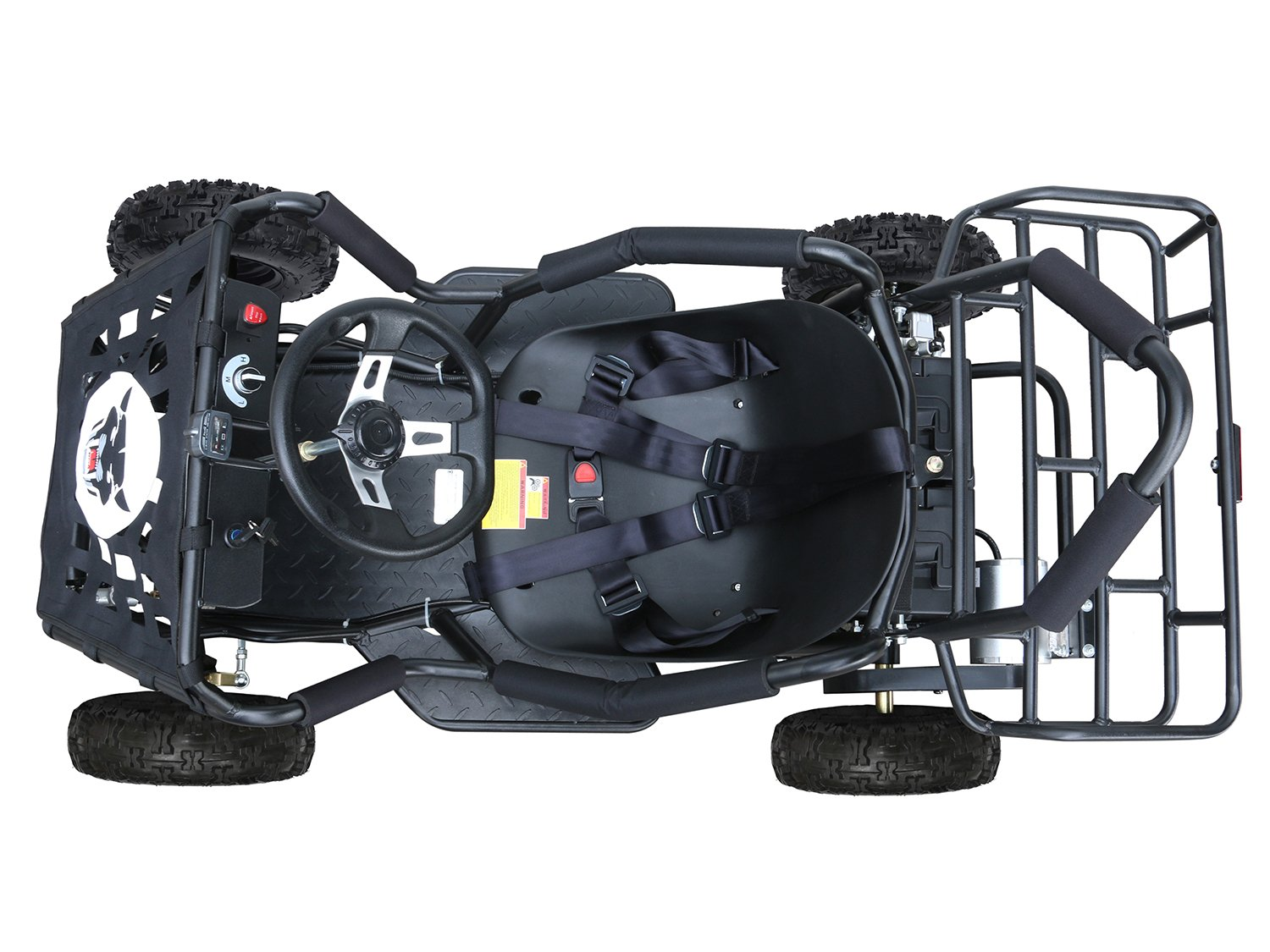 JCMOTO Electric Go Karts For Kids 4 Four Wheelers Off Road Tire 48v 1800w Black (Upgraded versions) by JCMOTO (Image #3)