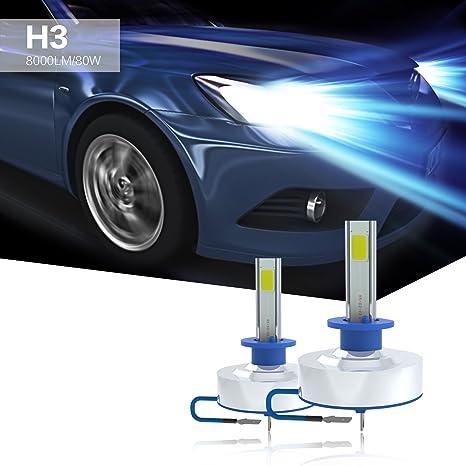 Amazon Com Aokairuisi H3 Led Car Headlight Bulb Car Headlamp With