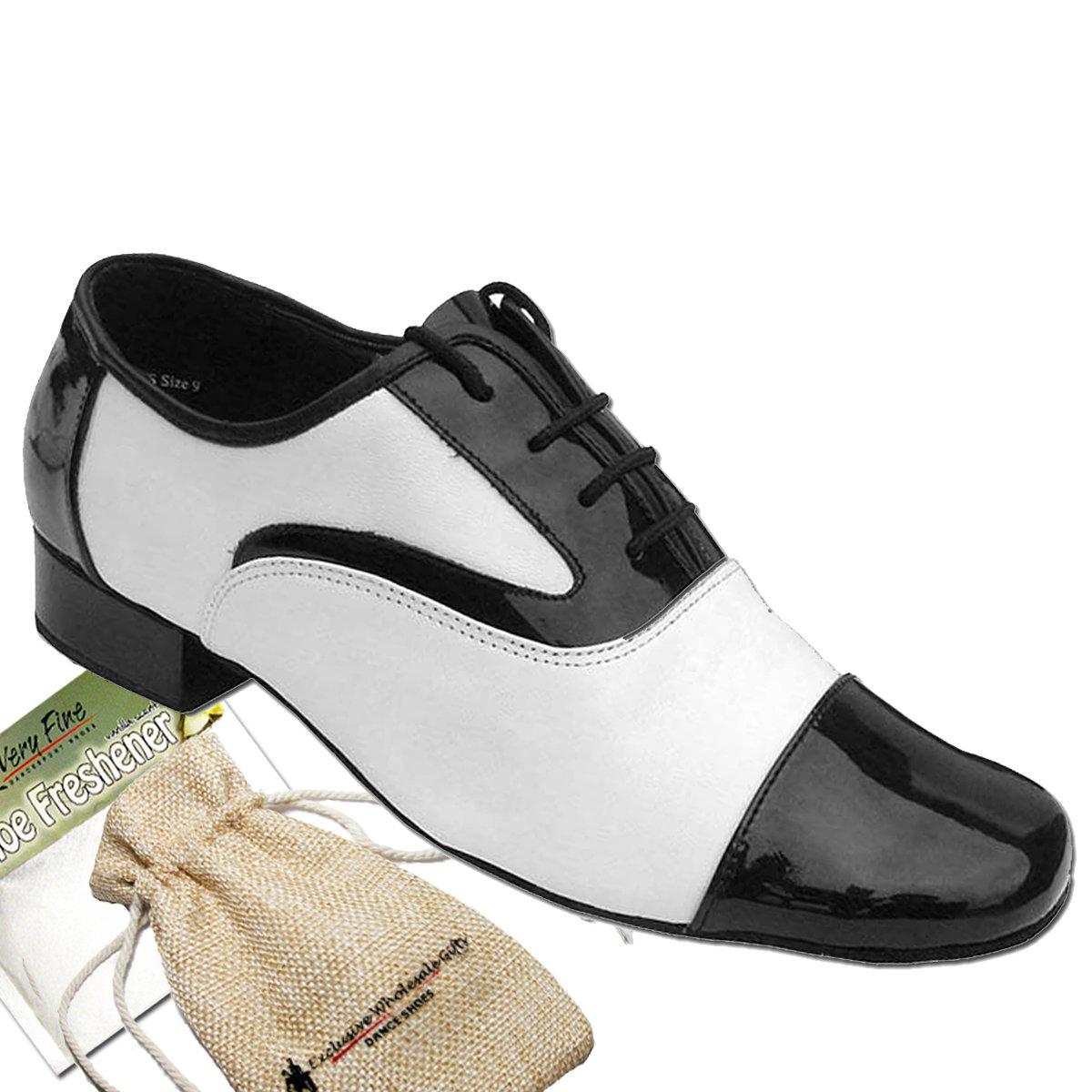 Men's Ballroom Salsa Standard & Smooth Black & White Dance Shoes Comfortable - Very Fine (Bundle of 4) B075H37R7X 8.5 M US: 1