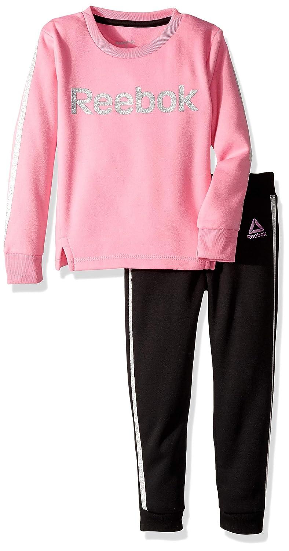 Reebok Girls 2 Piece Spun Poly Fleece Sweatshirt and Matching Jog Pant