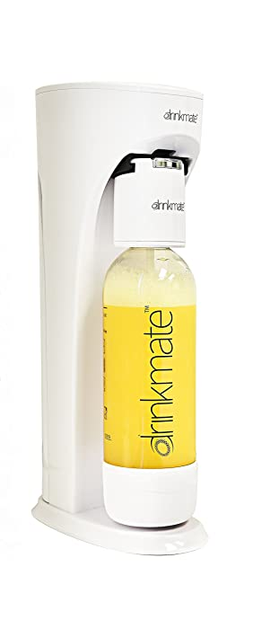 Drinkmate Carbonated Beverage Maker with 3 oz Test Cylinder (White)