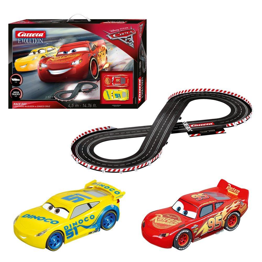Carrera Slot Car Tires, Amazon Com Carrera Evolution Disney Pixar 3 Race Day Slot Car Track Set Toys Games, Carrera Slot Car Tires