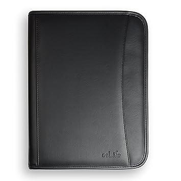 Amazoncom esLife Padfolio Portfolio PU Lether With Letter Size