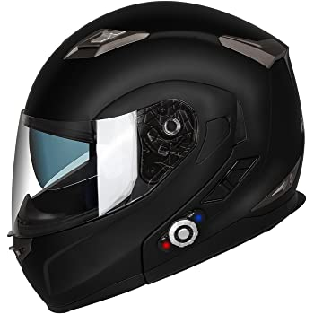 Motorcycle Bluetooth Helmets,FreedConn Flip up Dual Visors Full Face Helmet,Built-in Integrated Intercom Communication System(Range 500M,2-3Riders Pairing ...