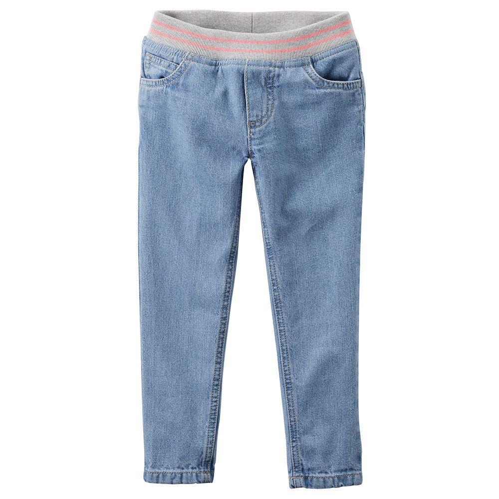 Carter's Girl Pull-On Denim Jeans; Bonita Blue (6X)