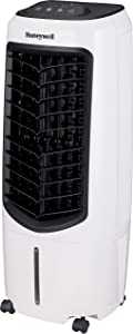 "Honeywell Portable Evaporative Cooler with Fan, Humidifier & Remote, 29.6"" TC10PEU, White"