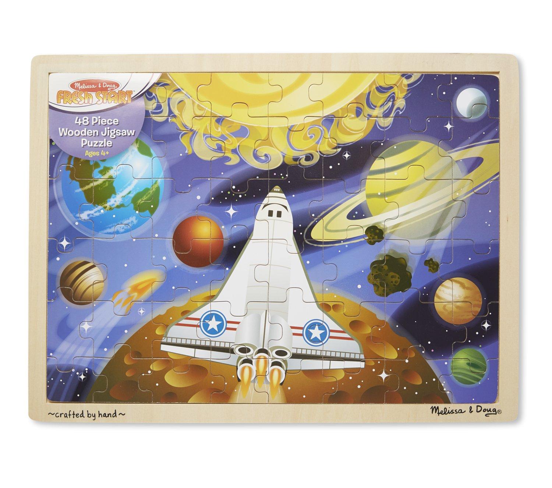 Melissa & Doug Space Voyage Wooden Jigsaw Puzzle (48 pcs) 4780