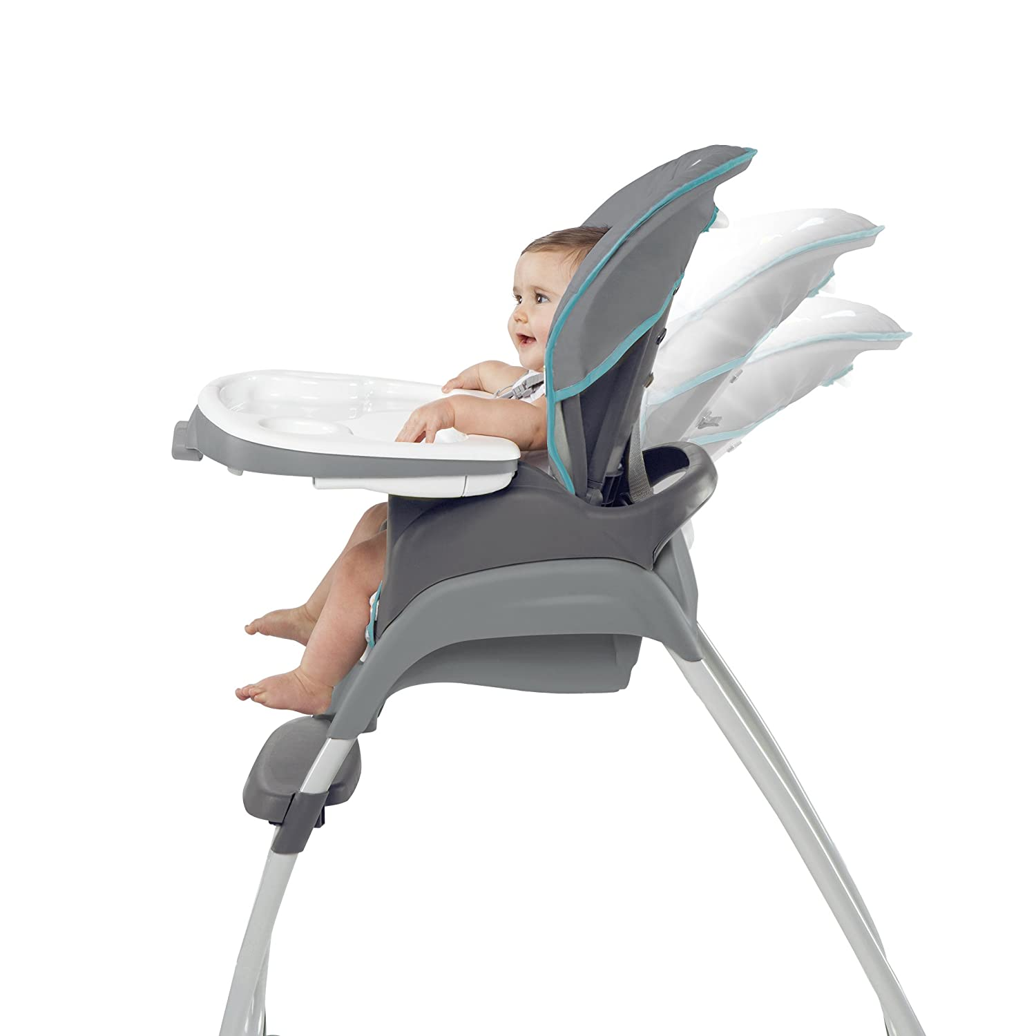 Ingenuity Trio 3 in 1 High Chair Ridgedale Grey Teal Amazon Baby