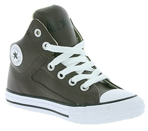 df2bf7a023a Converse All Star Chuck Taylor High Street Children s Real Leather Sneaker  Brown 654334C