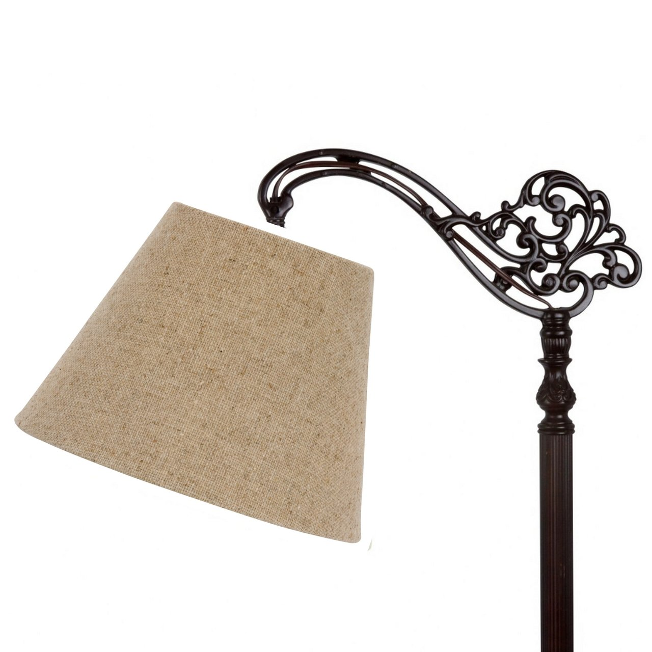 Amazon lamp shades tools home improvement - Upgradelights 10 Inch Uno Floor Lamp Shade Replacement In Beige Linen 6x10x7 5 Lampshades Amazon Com