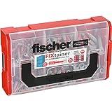 fischer FIXtainer DUOPOWER - Universaldübel-Set geeignet für verschiedene Baustoffe - Allzweckdübel für TV-Konsolen, Leuchten, Bilder uvm. - 210 Teile - Art.-Nr. 535968