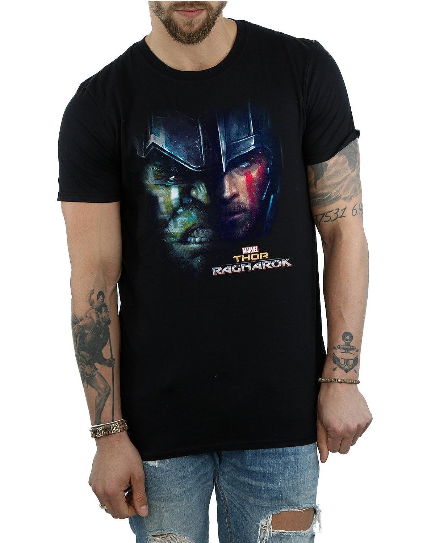 Marvel Hombre Thor Ragnarok Hulk Split Face Camiseta SL9gSjj9