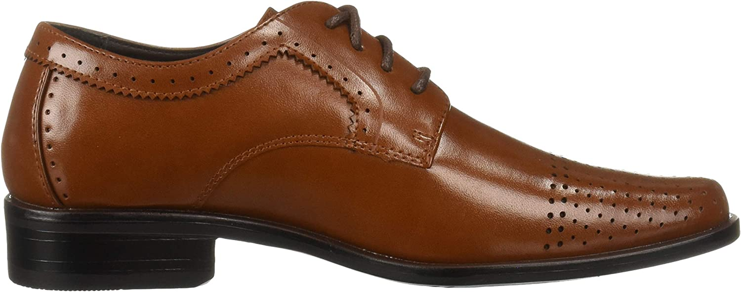 STACY ADAMS Unisex-Kids Sanborn Perfed Cap Toe Lace-Up Oxford