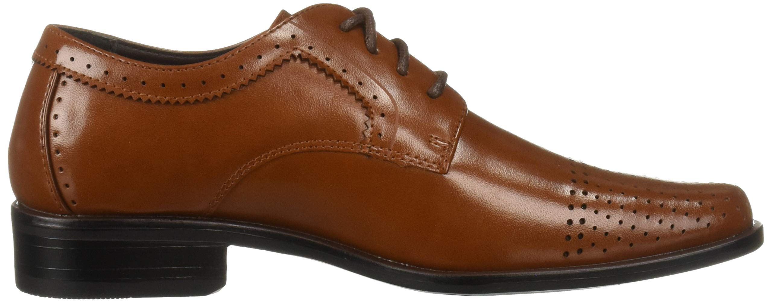 STACY ADAMS Unisex Sanborn Perfed Cap Toe Lace-Up Oxford, Cognac 5 M US Big Kid by STACY ADAMS (Image #7)