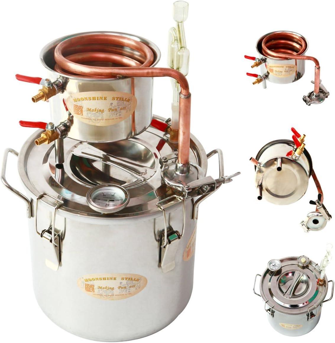 newwishjc 30 L 新しいホーム蒸留器 净水器/芳香蒸留水 ホーム醸造キット の銅ットルムーンシャインそれでもブリューキットスピリッツボイラースピリッツアルコール水の精油/エッセンシャルオイル